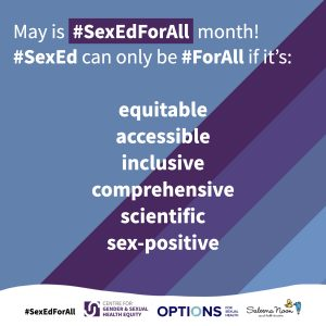 May is #SexEdForAll Month